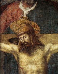 Masaccio, trinità, dettaglio